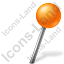 Map Marker Ball Right Orange Icon