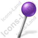 Map Marker Ball Right Violet Icon
