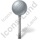 Map Marker Ball Grey Icon, PNG/ICO, 128x128