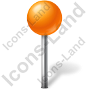 Map Marker Ball Orange Icon, PNG/ICO, 128x128