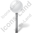Map Marker Ball White Icon