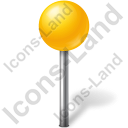 Map Marker Ball Yellow Icon, PNG/ICO, 128x128