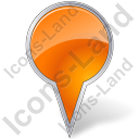 Map Marker Bubble Orange Icon
