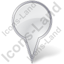 Map Marker Bubble White Icon, PNG/ICO, 128x128