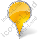 Map Marker Bubble Yellow Icon, PNG/ICO, 128x128