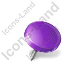Map Marker Drawing Pin Right Violet Icon