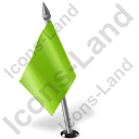 Map Marker Flag 2 Left Chartreuse Icon, PNG/ICO, 128x128