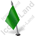Map Marker Flag 2 Left Green Icon