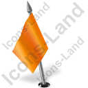 Map Marker Flag 2 Left Orange Icon, PNG/ICO, 128x128