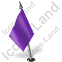 Map Marker Flag 2 Left Violet Icon