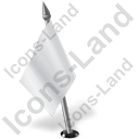 Map Marker Flag 2 Left White Icon