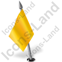 Map Marker Flag 2 Left Yellow Icon