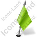 Map Marker Flag 2 Right Chartreuse Icon, PNG/ICO, 128x128