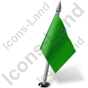 Map Marker Flag 2 Right Green Icon, PNG/ICO, 128x128