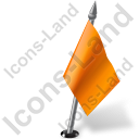 Map Marker Flag 2 Right Orange Icon