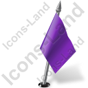 Map Marker Flag 2 Right Violet Icon, PNG/ICO, 128x128