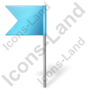 Map Marker Flag 4 Left Azure Icon, PNG/ICO, 128x128