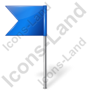 Map Marker Flag 4 Left Blue Icon
