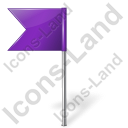 Map Marker Flag 4 Left Violet Icon