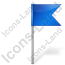 Map Marker Flag 4 Right Blue Icon, PNG/ICO, 128x128