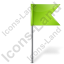 Map Marker Flag 4 Right Chartreuse Icon, PNG/ICO, 128x128
