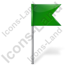 Map Marker Flag 4 Right Green Icon