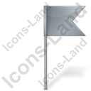 Map Marker Flag 4 Right Grey Icon, PNG/ICO, 128x128