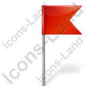 Map Marker Flag 4 Right Red Icon