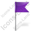 Map Marker Flag 4 Right Violet Icon