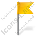 Map Marker Flag 4 Right Yellow Icon