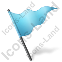 Map Marker Flag 5 Azure Icon, PNG/ICO, 128x128