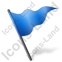 Map Marker Flag 5 Blue Icon, PNG/ICO, 128x128