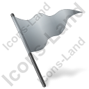 Map Marker Flag 5 Grey Icon, PNG/ICO, 128x128
