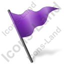 Map Marker Flag 5 Violet Icon, PNG/ICO, 128x128