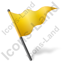 Map Marker Flag 5 Yellow Icon
