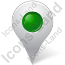 Map Marker Marker Inside Green Icon