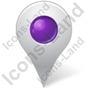 Map Marker Marker Inside Violet Icon, PNG/ICO, 128x128