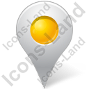 Map Marker Marker Inside Yellow Icon, PNG/ICO, 128x128