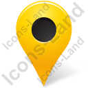 Map Marker Marker Outside Yellow Icon