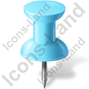 Map Marker Push Pin 1 Azure Icon