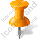 Map Marker Push Pin 1 Orange Icon, PNG/ICO, 128x128
