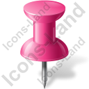 Map Marker Push Pin 1 Pink Icon, PNG/ICO, 128x128
