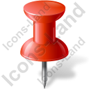 Map Marker Push Pin 1 Red Icon, PNG/ICO, 128x128