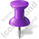 Map Marker Push Pin 1 Violet Icon, PNG/ICO, 128x128