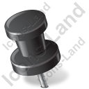 Map Marker Push Pin 2 Left Black Icon, PNG/ICO, 128x128