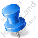 Map Marker Push Pin 2 Left Blue Icon, PNG/ICO, 128x128