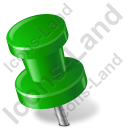 Map Marker Push Pin 2 Left Green Icon, PNG/ICO, 128x128