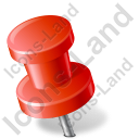 Map Marker Push Pin 2 Left Red Icon