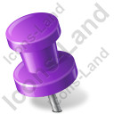 Map Marker Push Pin 2 Left Violet Icon