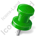 Map Marker Push Pin 2 Right Green Icon